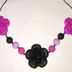 rose nursing necklace