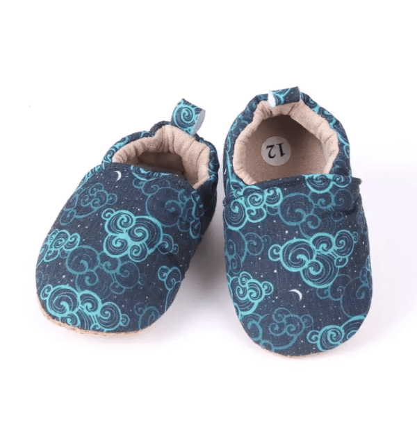 soft infant shoes clouds