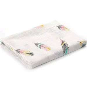 swaddle blanket feathers