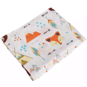 swaddle blanket fox