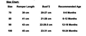 romper size chart